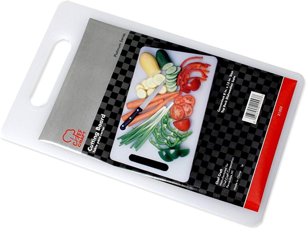 Chef Craft 21553 Cutting Board Plastic 13 In L X 8 In W White