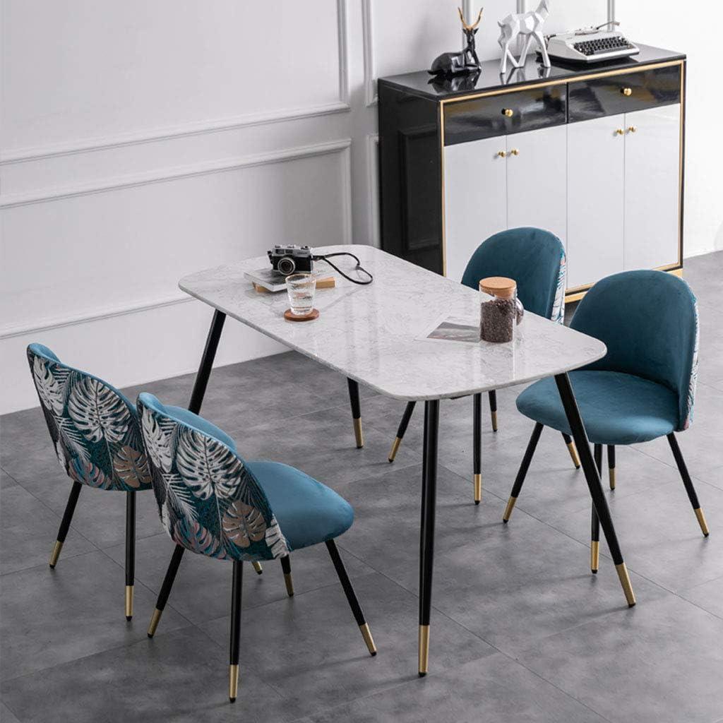 Amrai Chaise de Cuisine Loisirs Chaise de Salle à Manger contemporaine | Velvet Broderie Design Combine | Chaise de Maquillage Simple à négocier | Jambes en métal Robustes, Rose #1