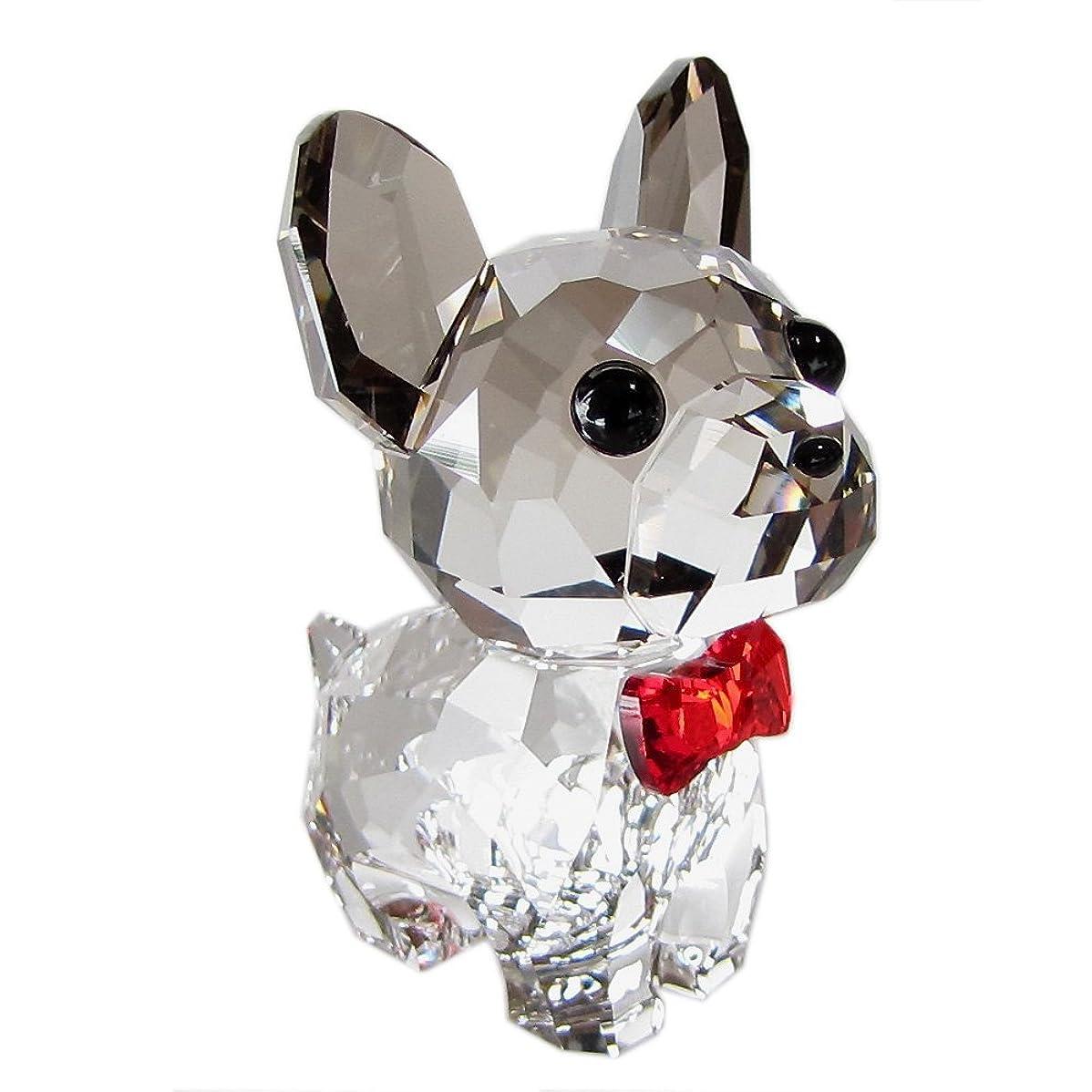量で自治アイスクリームスワロフスキー SWAROVSKI クリスタル フィギュア パピー ブルーノ フレンチブルドッグ 犬 5213639 【並行輸入品】 5213639