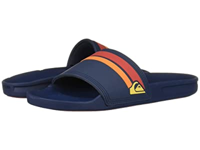 Quiksilver Rivi Slide (Blue/Red/Blue) Men