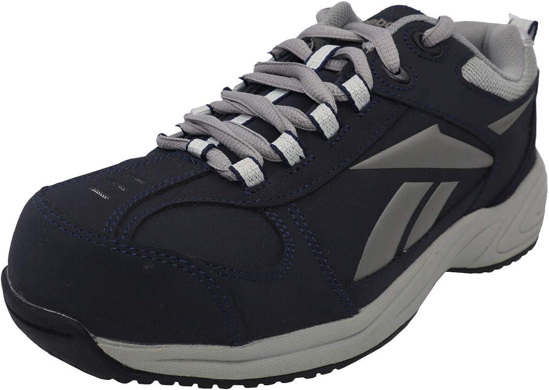 Reebok Womens Navy/Grey Leather Street Sport Oxford Jorie Comp Toe