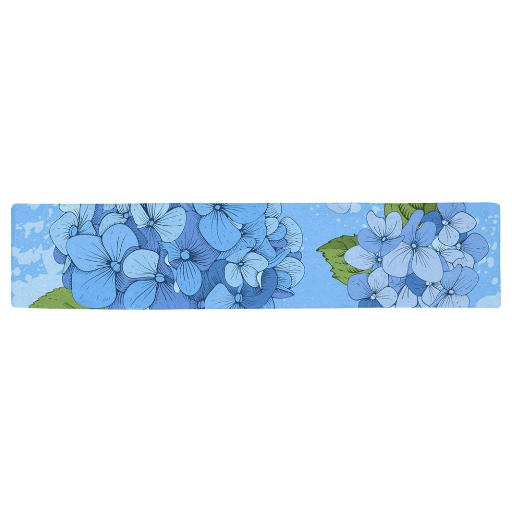 16 x 180 KESS InHouse Anneline Sophia Leafy Butterflies Red Aqua Butterfly Table Runner
