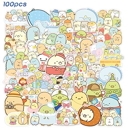 SPIRO 100pcs Sumikk_o Gurashi Sticker Cute Cartoon Stickers Vinyl Waterproof Stickers for Kids Teens Adults Laptop Water Bottles Skateboard Birthday Party Supplies