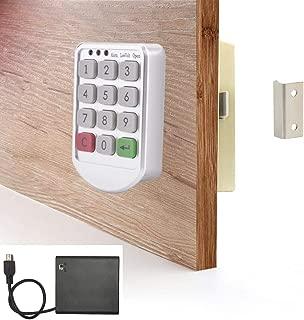WOOCH Electronic Cabinet Lock - Digital Keypad Cabinet Lock with Password Entry - Combination Lock for Cabinet Drawer Locker - Keyless Cabinet Door Lock
