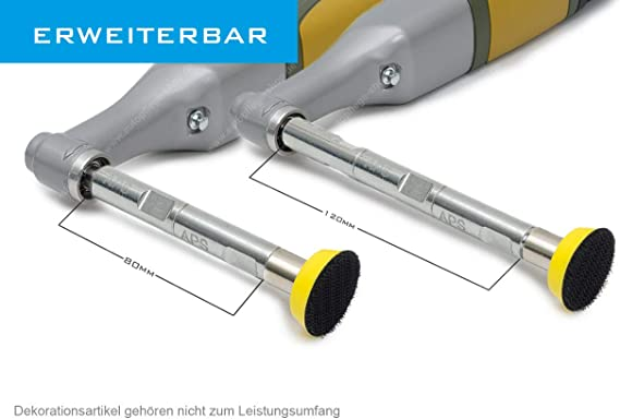Verlängerung Passend Für Proxxon Wpe Wpa Aps Pro Pva40 40mm Für Pp30 Polierteller Ohne Zubehör Auto