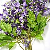 Ogquaton Ramo de flores artificiales de margaritas decorativas de seda, para bodas, fiestas, ceremonias, decoración del hogar, 5 unidades, resistente y práctico