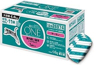 【Amazon.co.jp限定】 ピュリナ ワン キャットフード 成猫用(1歳以上) 室内飼い猫用 インドアキャット サーモン 4.4kg(400g×11袋入)