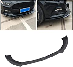 JC SPORTLINE fits for Ford Mustang Coupe Convertible 2-Door 2015-2017 ABS Front Bumper Lip Spoiler Protector (Non GT350) (Matt Black)