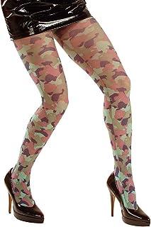 Amakando Amakando Camouflage Strumpfhose Army Feinstrumpfhose Tarnfarbe, 40 DEN Tarn Pantyhose Soldatin Nylonstrumpfhose Militär Nylons Armee Damenstrumpfhose