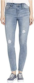 BUFFALO David Bitton Rip & Repair Mid-Rise Skinny Jeans, Light Blue, 8/29