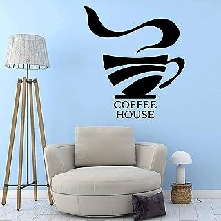 Bricolage Art Café Papier Peint Décoration De La Maison Amovible Stickers Muraux Stickers Muraux Accessoires Décoratif Mur...