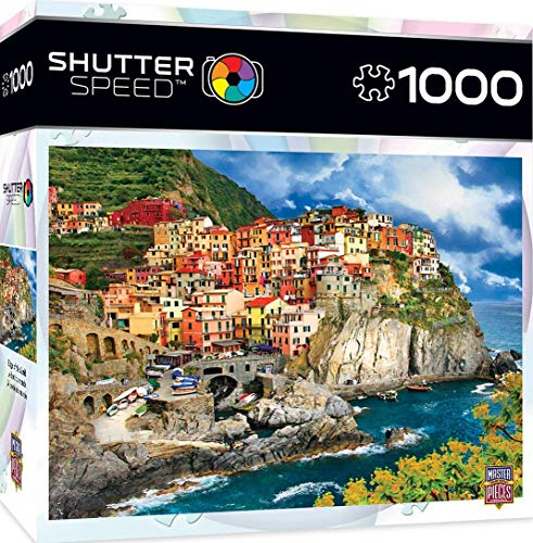 MasterPieces Shutter Speed Jigsaw Puzzle, Edge of the World, Featuring The Cinque Terre on Italian Rivera, 1000 Pieces