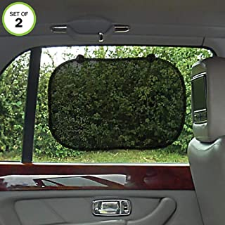 Evelots Car Window Sun Shade-Child Protect-No Glare/UV Rays-Easy Install-Set/2