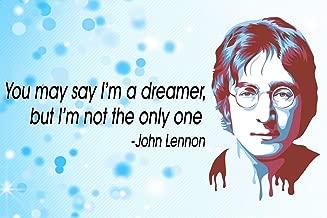 Vincit Veritas John Lennon Poster | The Beatles Poster | Beatles Memorabilia | The Beatles Posters | Classroom Posters | John Lennon Posters | 100 Lb Gloss Paper | 18-Inch by 12-Inch | P004