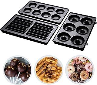 Russell Hobbs Plaques Amovibles Interchangeables x3 pour Appareil à Sandwich, Revêtement Anti-adhésif, Compatible Lave-Vai...
