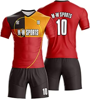 Red vs Black Home and Away Soccer Jerseys Custom Team Sports Uniform with Logo,Name and Number