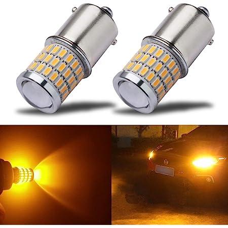 BA15S 1156 P21W 180degrees Amber Chrome Halogen Front Signal Light BMW Mini