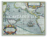 BookFactory- Cuaderno de bitácora marino de 100 páginas, cubierta a color con protección de translux, 28 x 22 cm, encuadernación wire-O (LOG-100-CPT-011)
