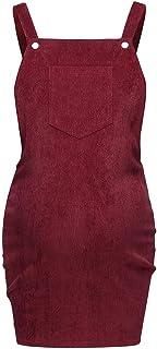 Moda Color Sólido Vestidos Falda de Mujer sin Mangas Tirantes Simplicidad y Moda Falda de Verano Vestido de Maternidad Pana Ropa premamá Mujeres Embarazadas MMUJERY