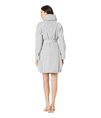 Marc New York by Andrew Marc Navarre Bubble Trench Coat w/ Hood (Silver) Women