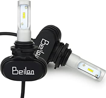 BeiLan H7 LED Headlight Bulbs Kit 8000LM Super Bright 6000K White Light Replacement Bulbs Replace for Halogen Bulbs Pack of 2