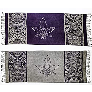 Herb Leaf Pashmina Shawls and Wraps Gifts for Men Women Scarf Clothes Rave Shirts Accessories Mask Socks Tapestry Smoking Pipe Bags Rolling Tray Grinder Purple