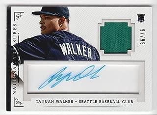 2014 Panini National Treasures Baseball Signature Materials #92 Taijuan Walker Auto Jersey 97/99