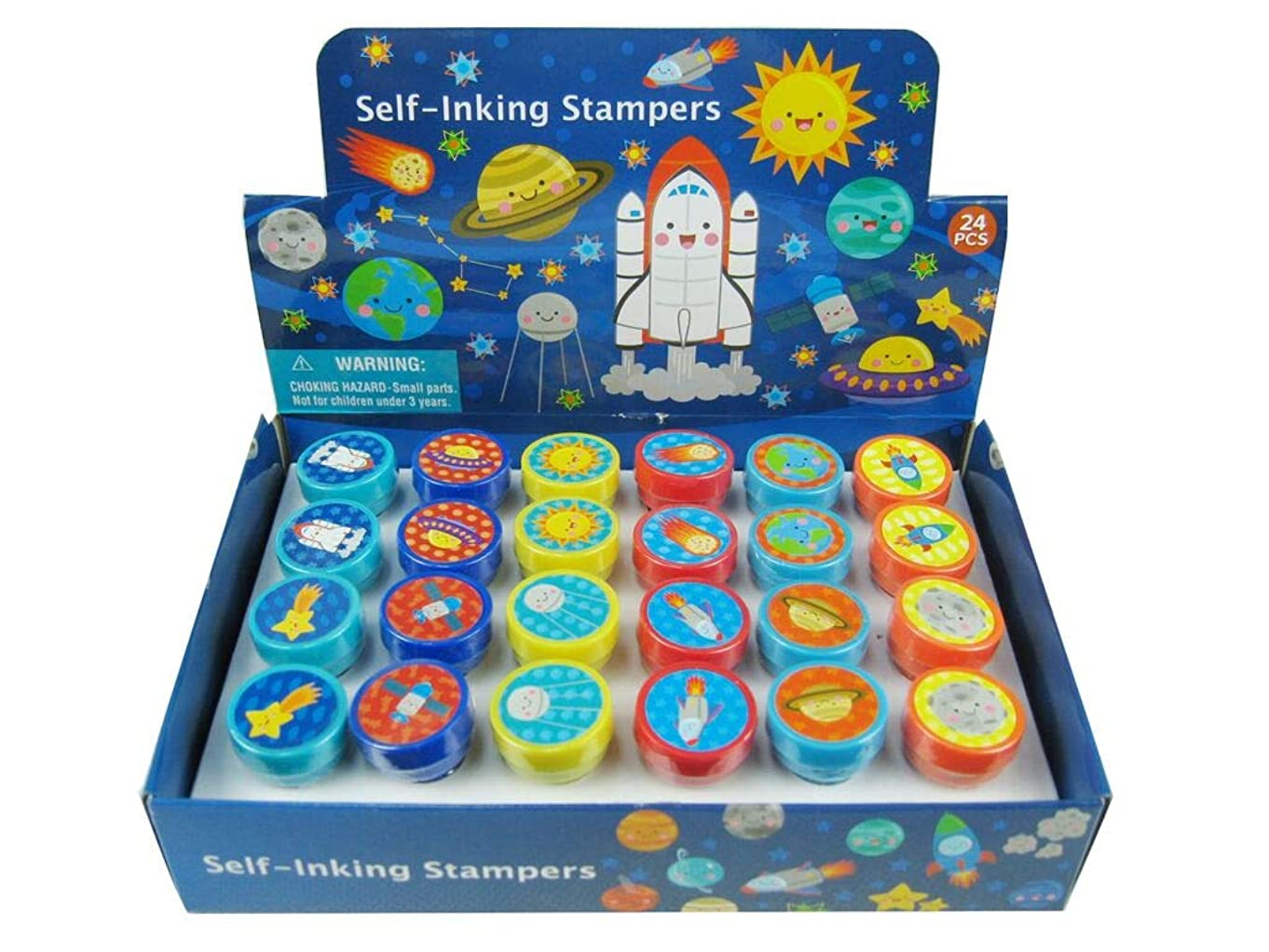 TINYMILLS 24 Pcs Outer Space Stampers for Kids