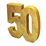 Generique - H104 Gold Glitter Number 50 Table Decoration-1 Pc