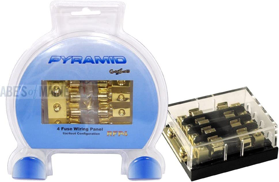 Pyramid RFP4 1 In/4 Out Dual Fuse Wiring Panel