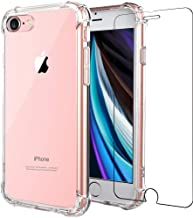 "Folmeikat iPhone SE 2nd Generation 2020 New Case iPhone 8 Case, iPhone 7 Case Screen Protector Slim Shock Absorption Reinforced Corner Soft TPU Silicone Clear Case 4.7"" (Clear)"