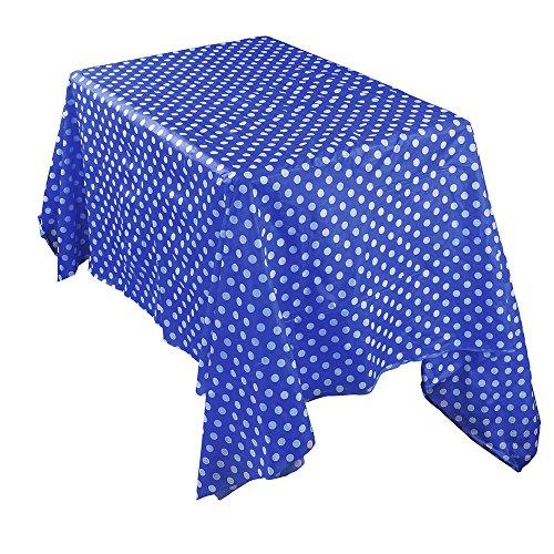 TOWAKM wasserdichte Plastiktischdecken Tischdecke Abdeckung Partei Catering Events Geschirr (Dark Blue)