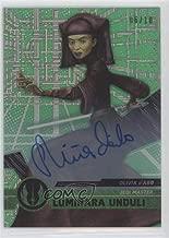 Olivia d'Abo; Luminara Unduli #6/10 (Trading Card) 2017 Topps Star Wars High Tek - Autographs - Green Cube Diffractor #29
