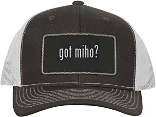 got Miho? - Leather Black Metallic Patch Engraved Trucker Hat