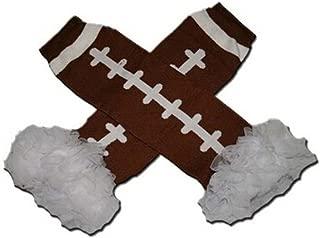 WHITE CHIFFON RUFFLES AMERICAN FOOTBALL (TOUCHDOWN) Baby Sweet Leggings/Leggies/Leg Warmers