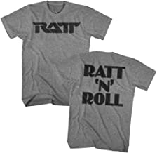Ratt American Glam Metal Band Ratt N Roll Grey Heather F&B Adult T-Shirt Tee