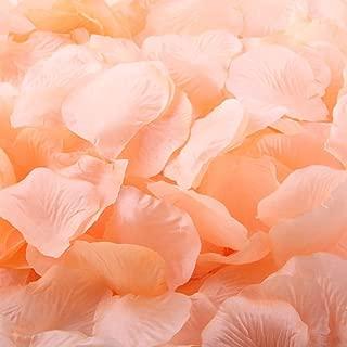1000pcs Peach Artificial Silk Rose Flower Petals Wedding Table Scaters Confetti Favor Bridal Party Decoration