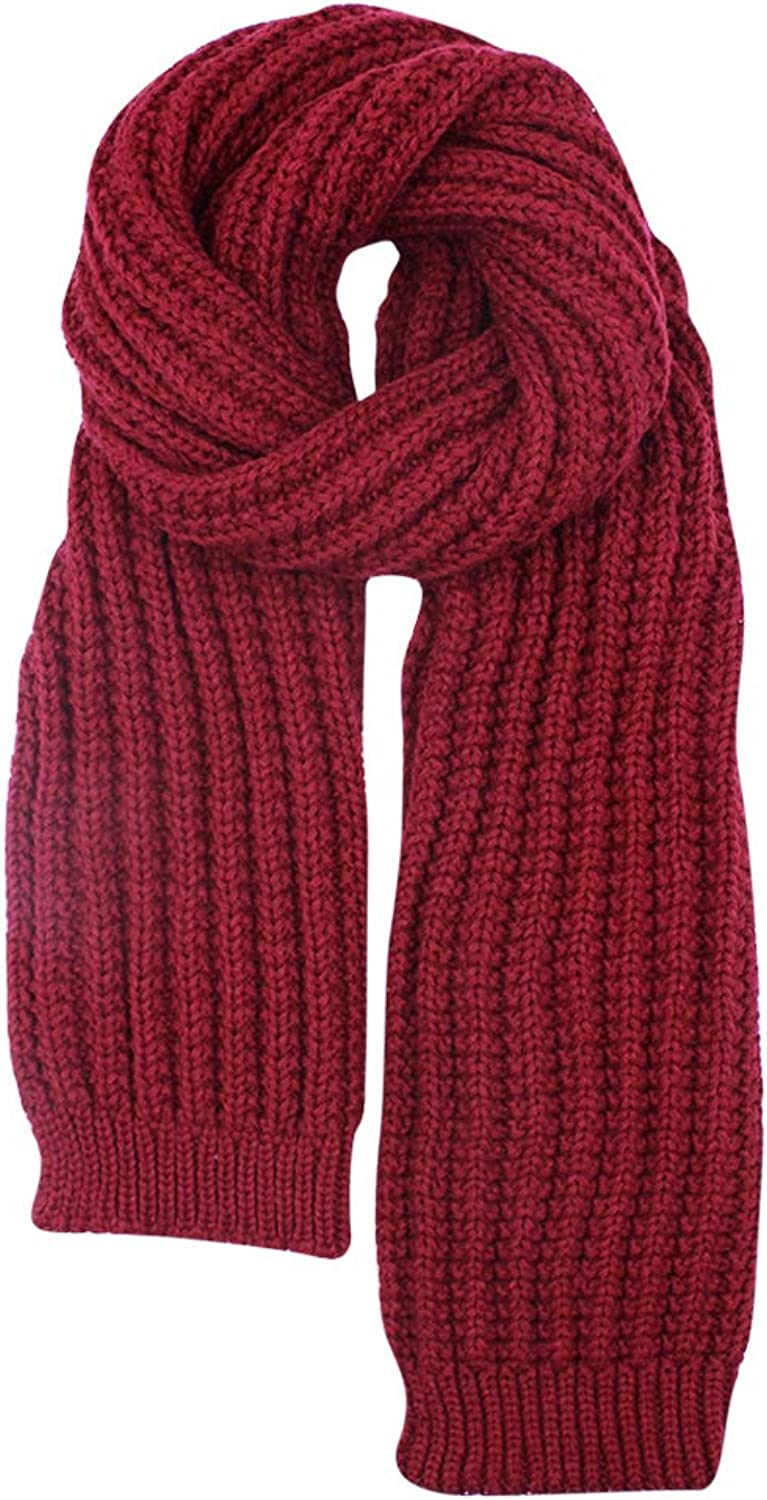 Aibearty Women Thick Knitted Long Scarf Winter Warm Large Scarves