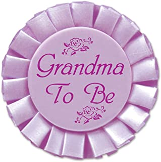 Grandma To Be Satin Button Party Accessory (1 count) (1/Pkg)