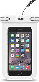 Bolsa Impermeable Móvil Universal, Kosse IPX8 Bolsa Estanca para iPhone 7/6S, 7/6S Plus, SE, Galaxy S7/S6/J7/J5/J3, Huawei P20/P9/P8 Lite, Xiaomi A1/Redmi Note 5/5 Plus Hasta 6,0