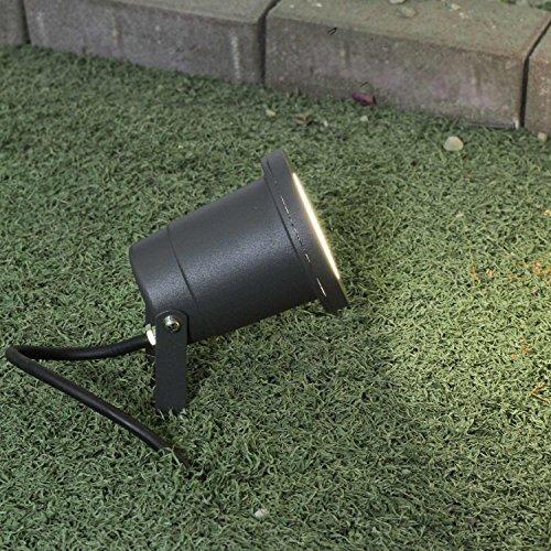 Foco de jardín con pica en gris GU10 IP54 Proyector Exterior Estanque...