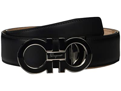 Salvatore Ferragamo Outline Dress Belt 679750 (Black 2) Men