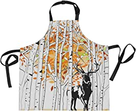 AHOMY Adjustable Apron with Pocket Deer At Deep Forest Extra Long Ties, 27.5 x 29
