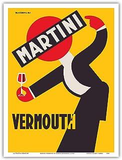 Martini Vermouth Liquor - Martini & Rossi - Vintage Advertising Poster by Giuseppe Riccobaldi c.1930 - Master Art Print 9i...