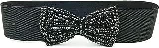 MYCHOMEUU Women's Belt Fashion Wild Elastic Elastic Decorative Dress Coat Girdle Wide Female Personality Pants Belt (Color : Black, Size : 60-80cm)