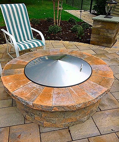 Higley Welding 43 Diameter Round Stainless Steel Metal Fire Pit Spark Screen Cover Lid Top