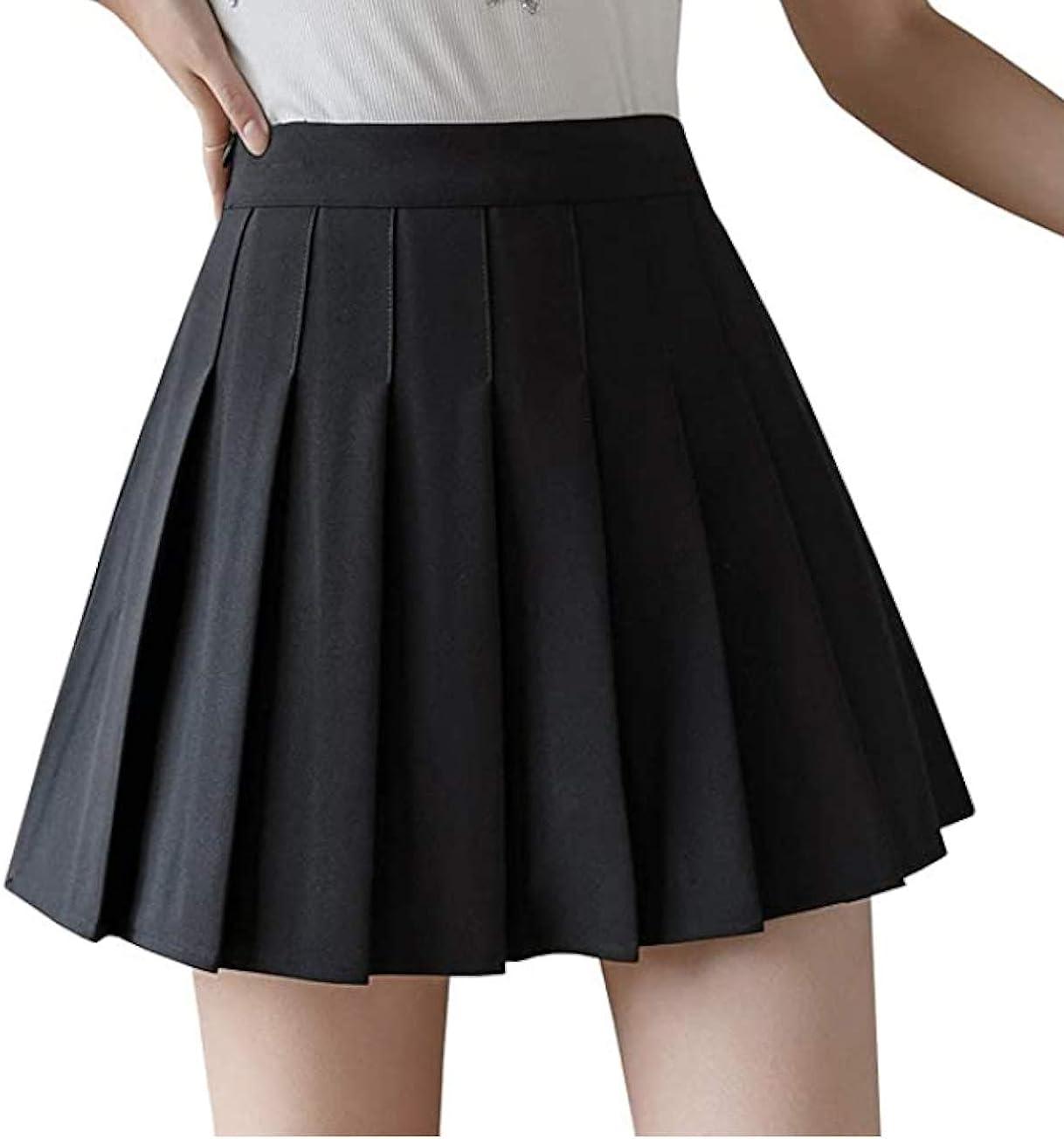 Girls Women High Waisted Plain Tennis Super Max 60% OFF popular specialty store Skirt Skater Schoo Pleated