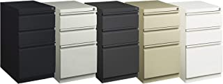 Hirsh Industries Mobile Pedestal Cabinet with 2 Box Drawers and 1 Letter-Size File Drawer- Putty, 15in.W x 19.88in.D x 27....