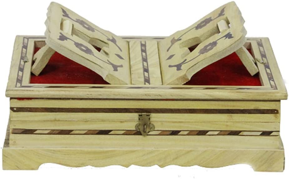 APKAMART Handcrafted Wooden Religious Limited price Book Boo With Reader - Popularity Box