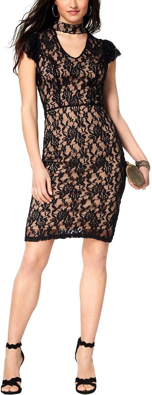 XOXO Ladies Apparel Women's XOXO Lacey Bodycon Woven Dress